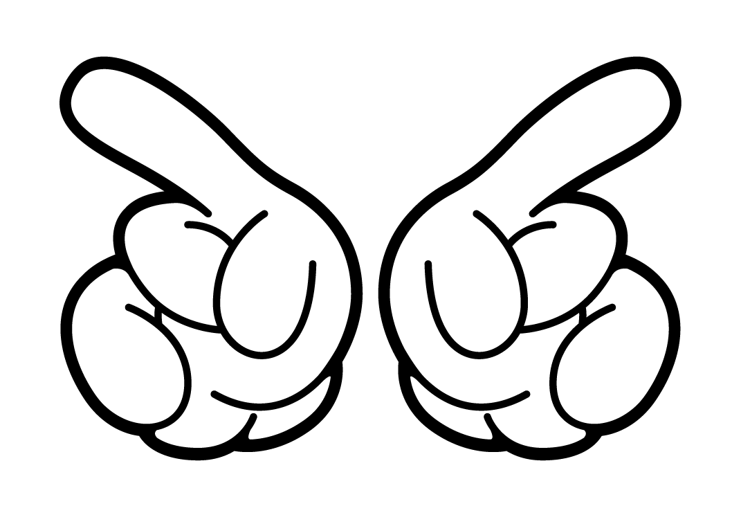 Mickey Mouse Hands Vector - Cliparts.co