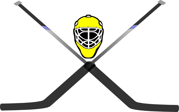 Goalie Skull And Cross Sticks clip art - vector clip art online ...