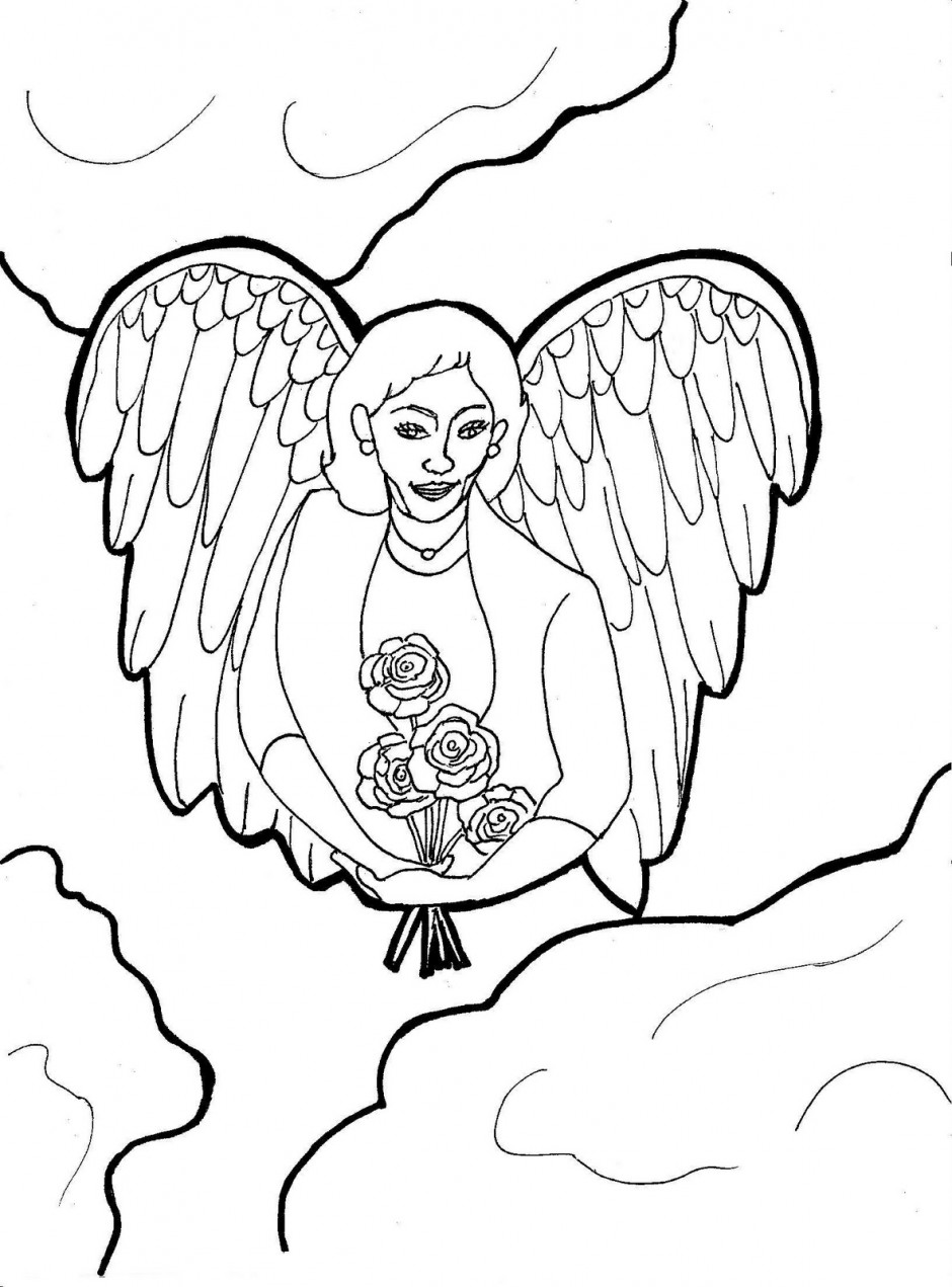 coloring pages of guardian angels - photo#16