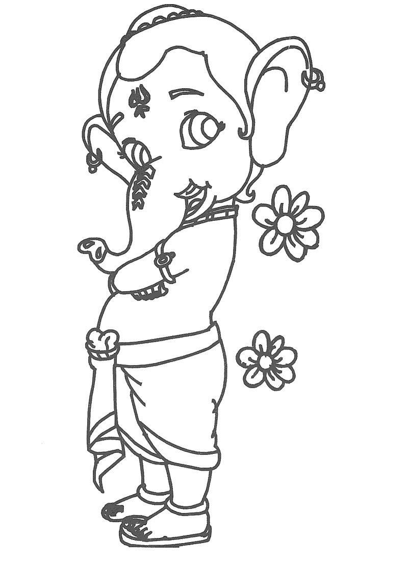 Lord Ganesha Drawing Cliparts Co Drawing For To Colour