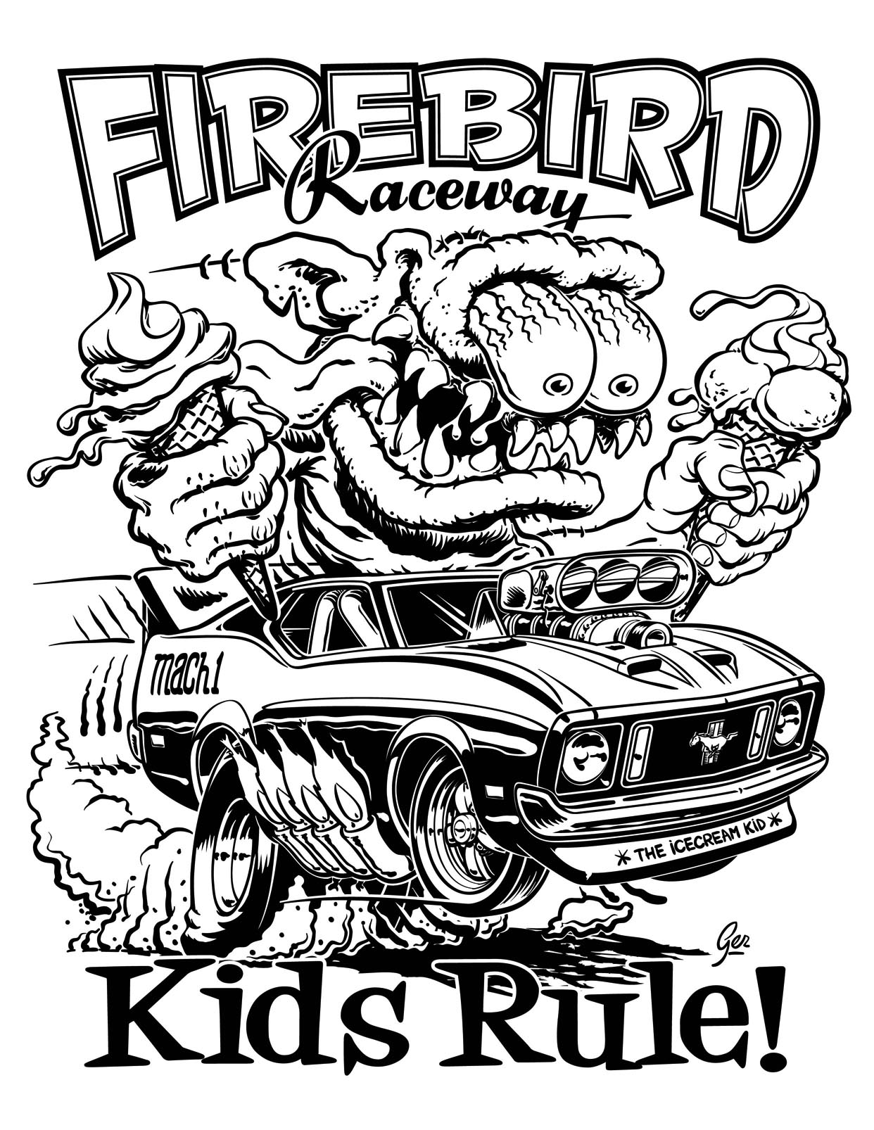 hotrod coloring pages - photo#17