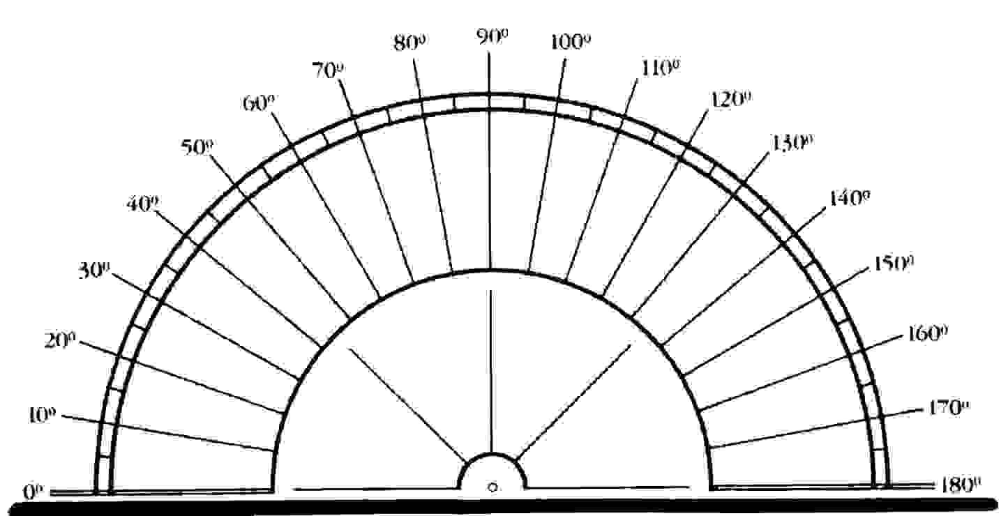 picture regarding Small Printable Protractor titled Printable Protractor -