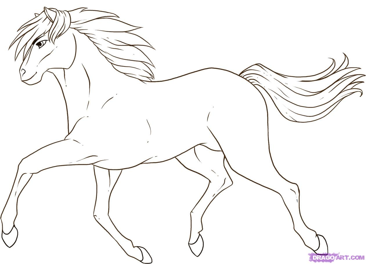 How to draw a running horse step by step farm animals animals