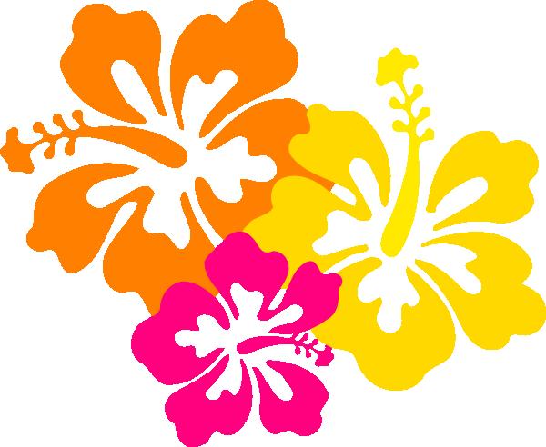 Hibiscus Flowers 4.5 clip art - vector clip art online, royalty ...