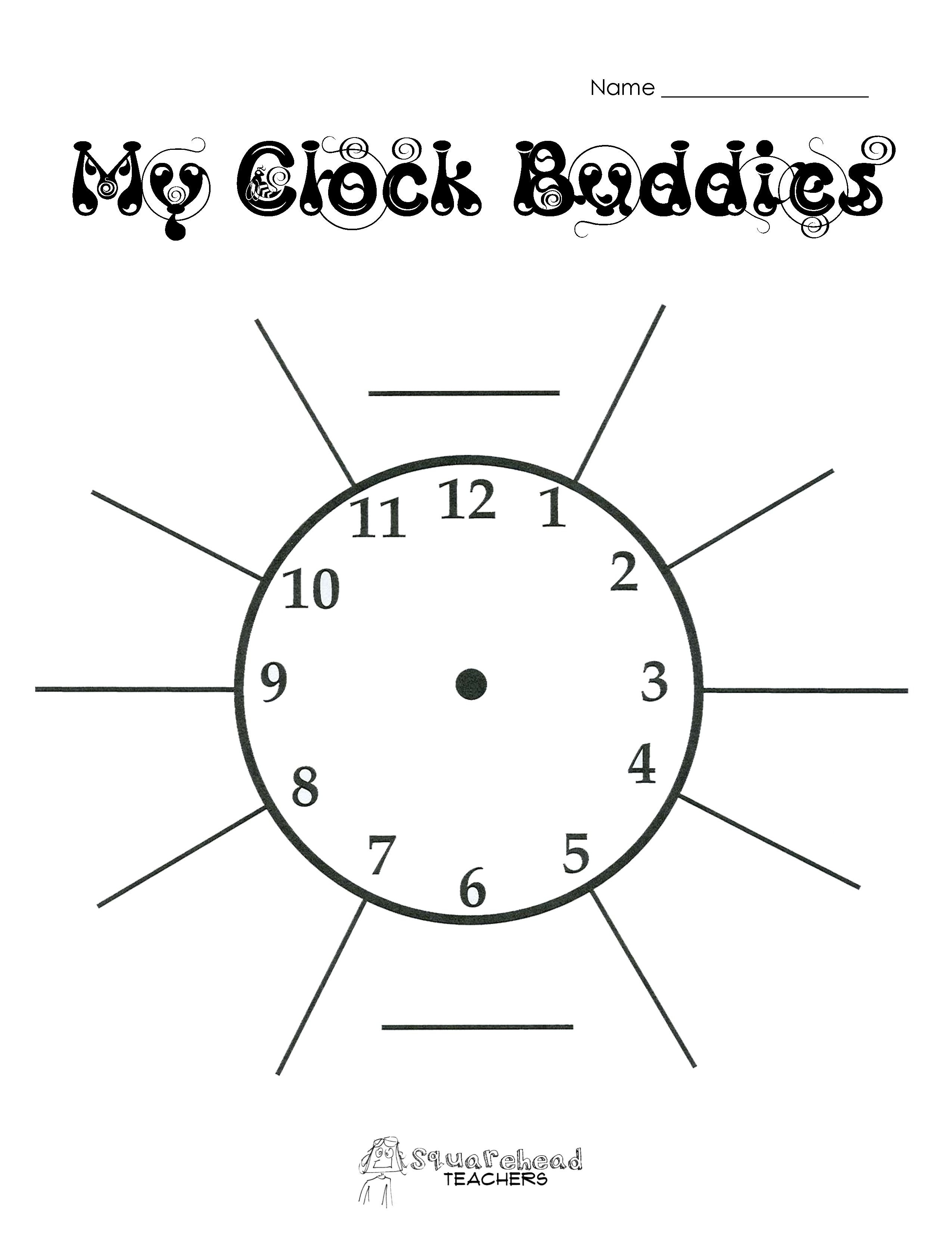Clock Flash Cards  SEN Teacher
