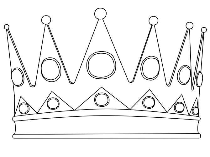 Line Drawing Crown : King crown sketch