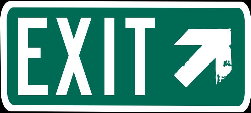 exit sign clip art clipartsco