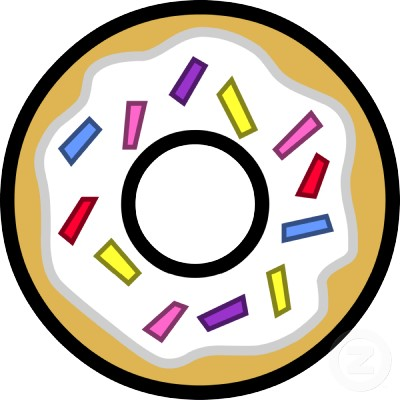 Image - Cartoon doughnut rainbow photosculpture ...