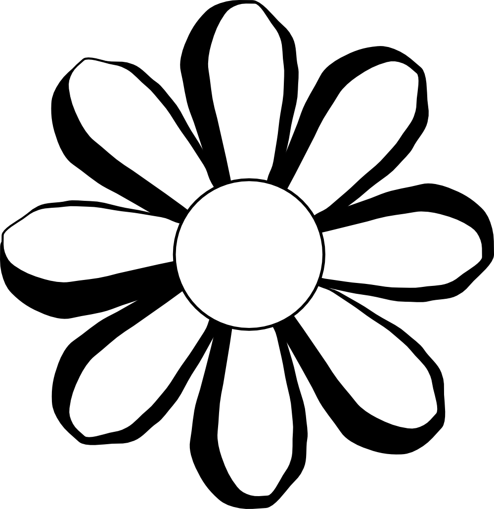 Black And White Flower Picture - Cliparts.co