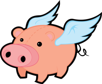 Clip Art Flying Pig - Cliparts.co