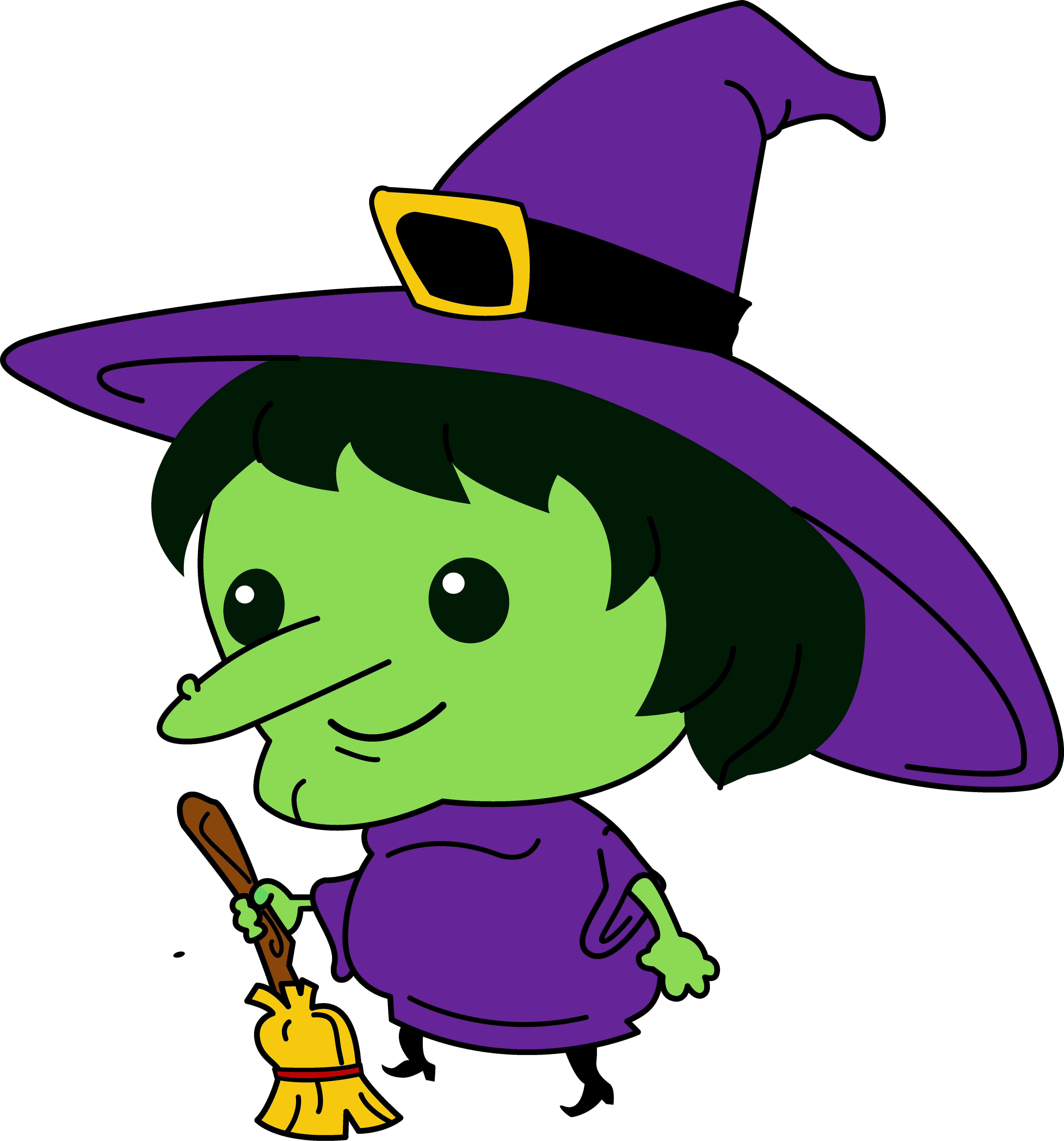 Cute Little Witch - Free Clip Art