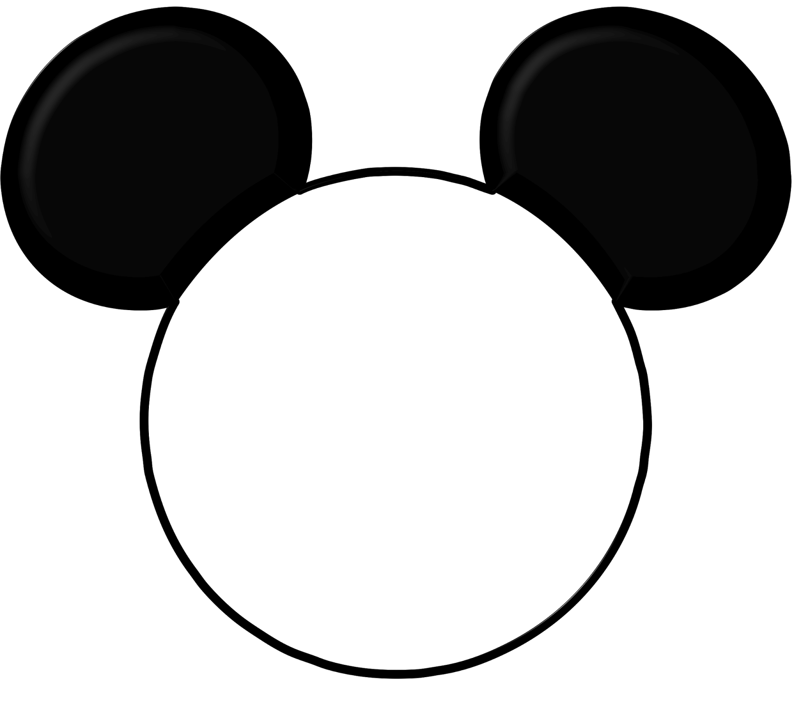 Mickey mouse ears template printable for Large mickey mouse head template