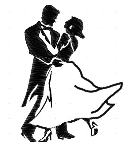 Line Drawing Wedding Couple : Dancing couple cliparts