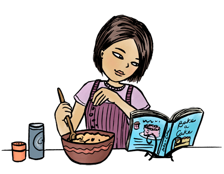 Pix For > Kids Cooking Clipart
