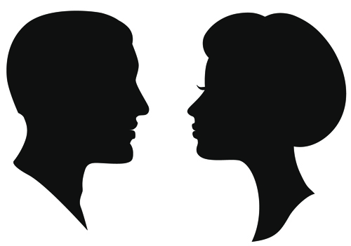 Creative man and woman silhouettes vector set 02 - Vector People ...