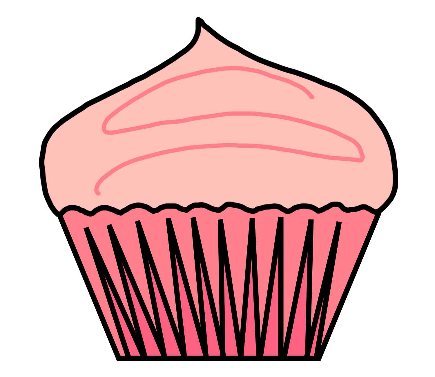 Cupcake Clip Art Outline | Clipart Panda - Free Clipart Images