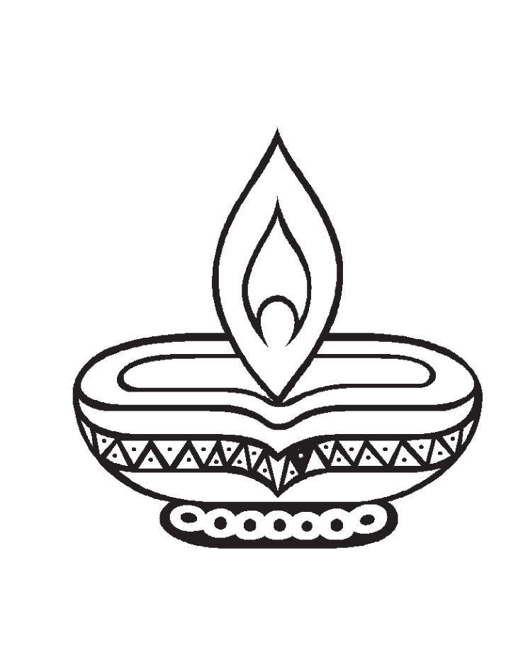 Diwali Clipart Black White | Free Internet Pictures