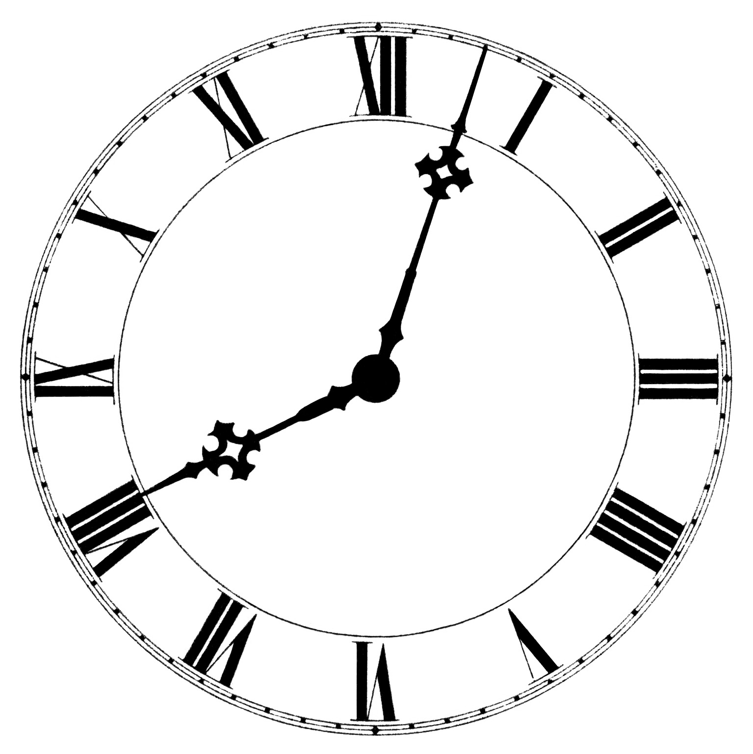 Line Drawing Clock Face : Clock face clipart cliparts