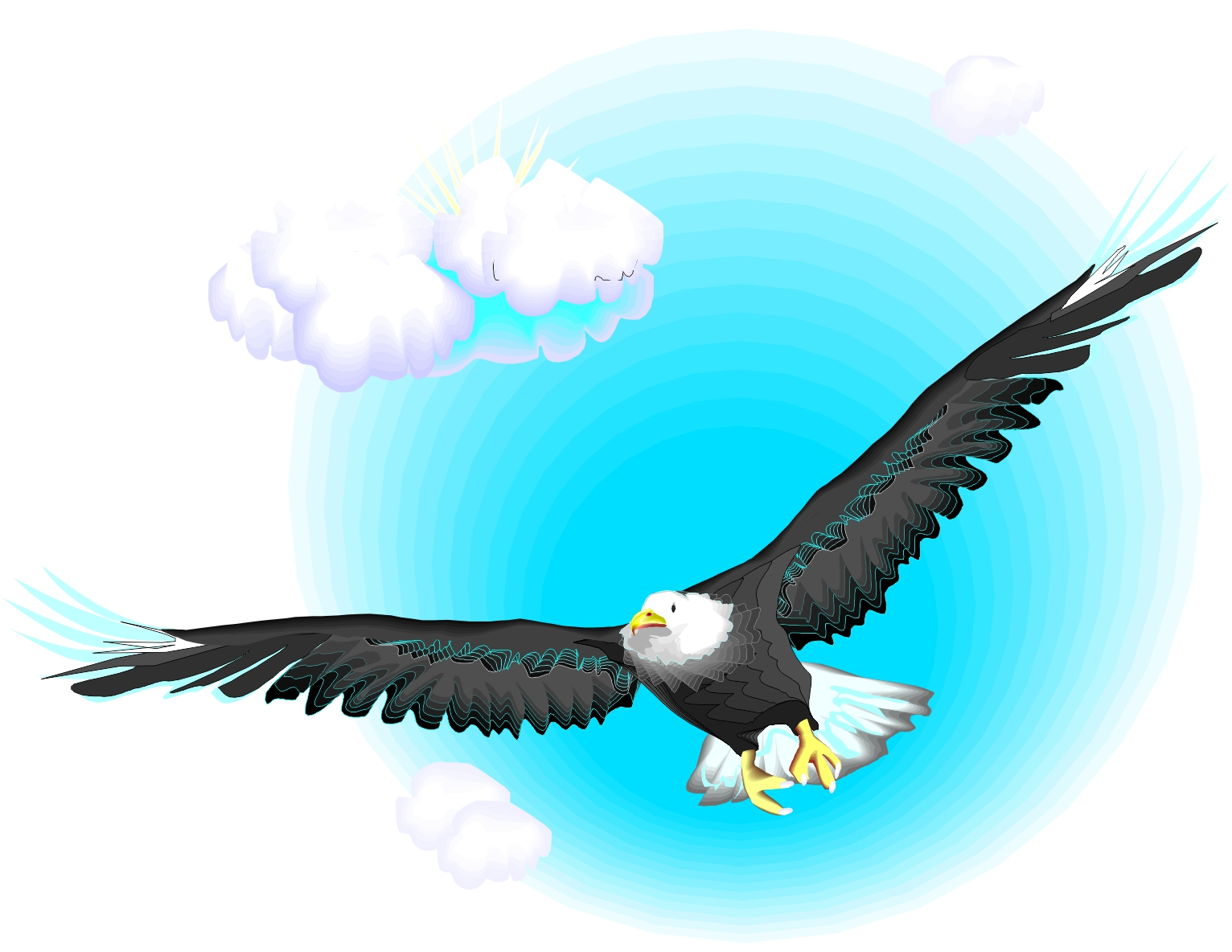 flying eagle clip art - photo #41