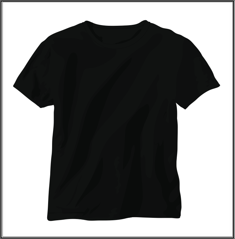 Black shirt for women template