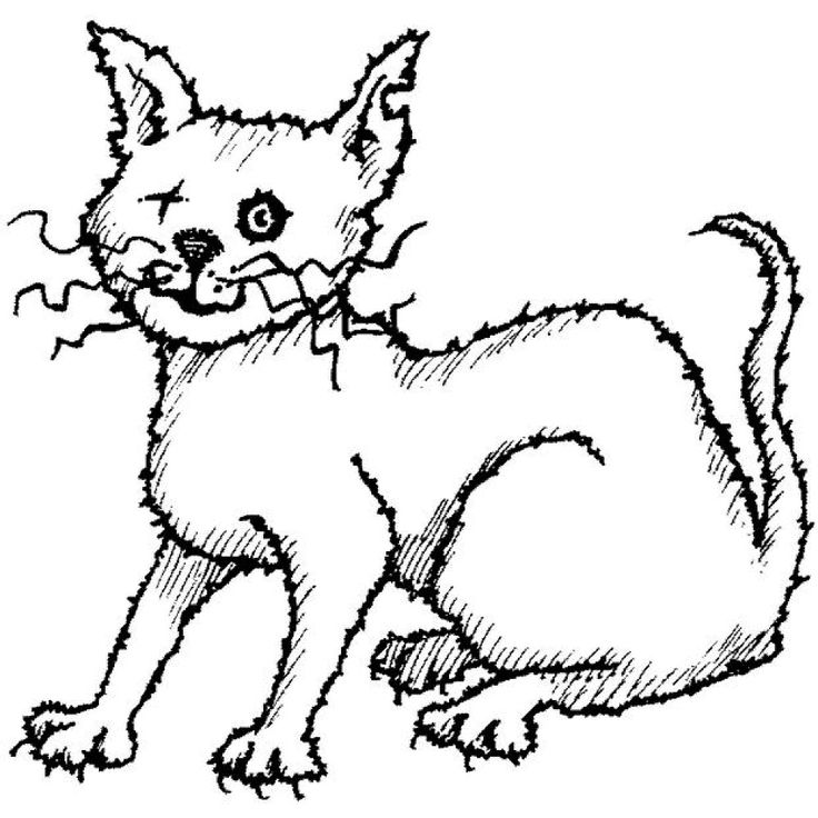 scary cat clipart free - photo #3