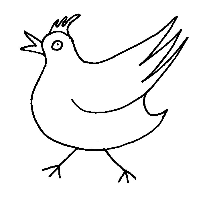 Line Drawing Chicken : Chicken line art cliparts