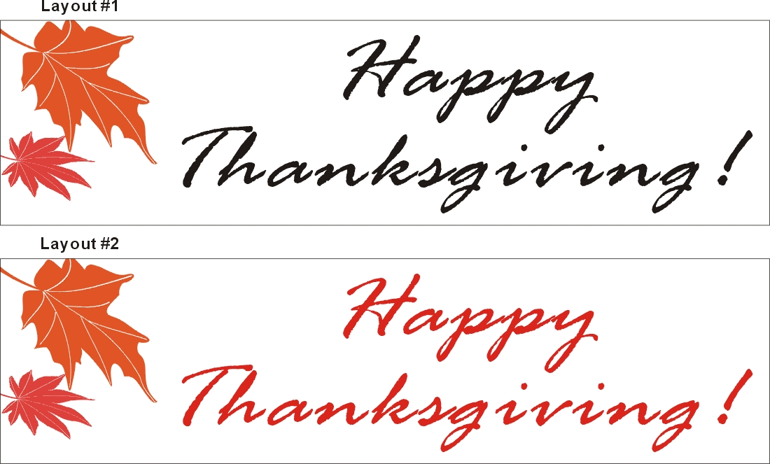 2ftX7ft Happy Thanksgiving Banner Sign, Alice Graphics