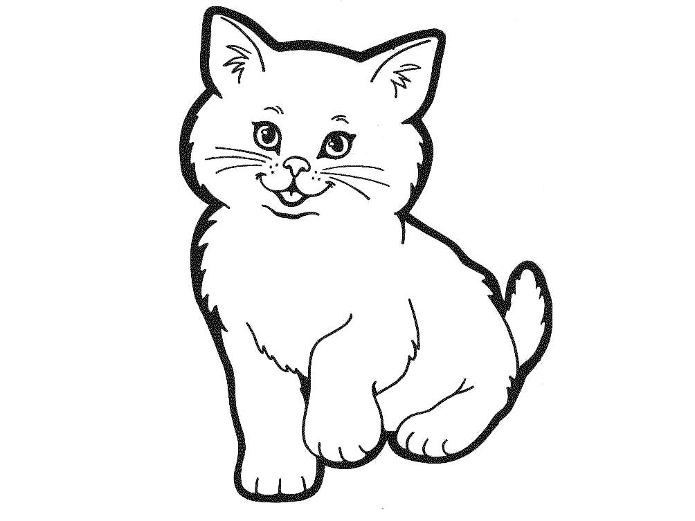 Cat Face Outline - Cliparts.co