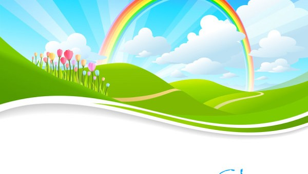 Free vector about spring cartoon background | Vector Sources: cliparts.co/spring-cartoon-pictures