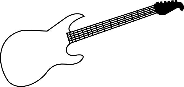 Guitar Clipart Outline Electric Guitar Outline Clipart