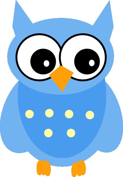 Blue Mother Owl clip art - vector clip art online, royalty free ...