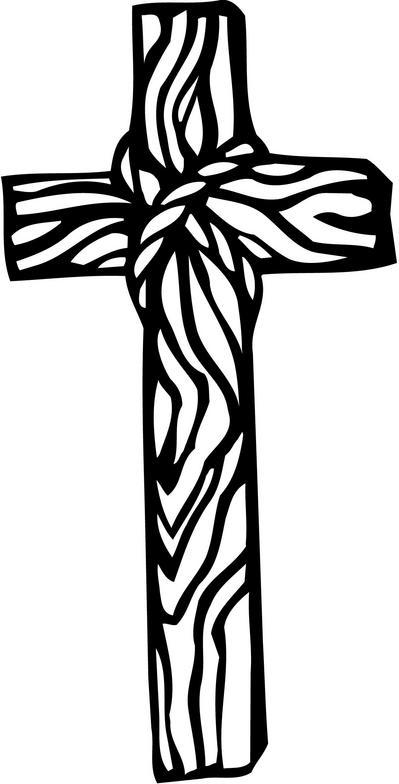 Black Wood Cross Clipart 1