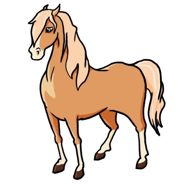 A Cartoon Horse Clipartsco