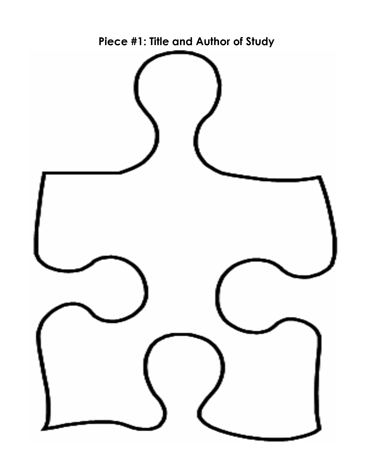 Large Puzzle Piece Template Clipartsco – Puzzle Piece Template