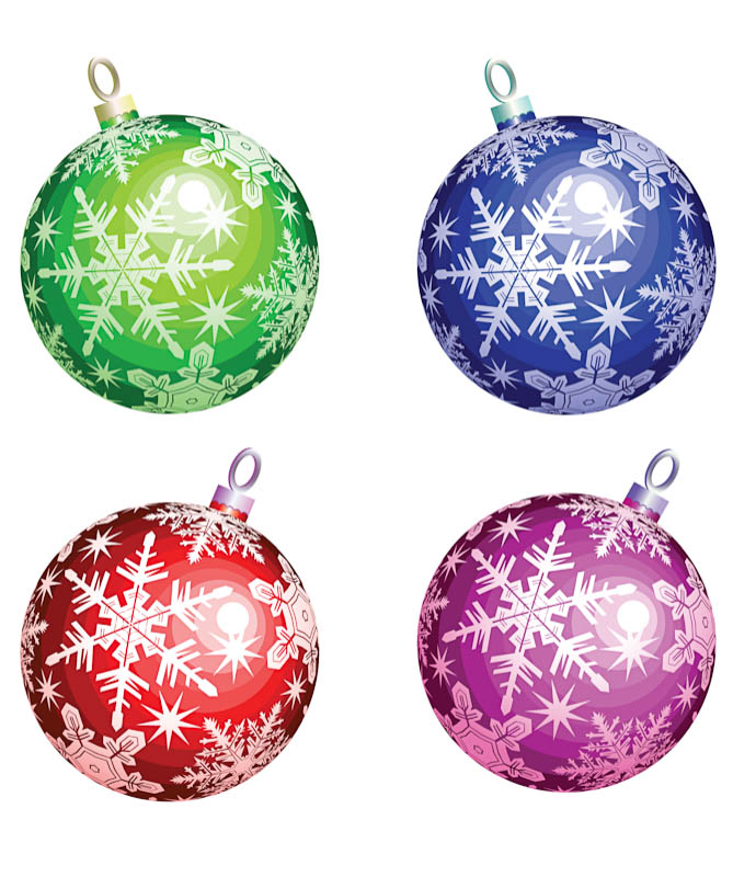 Christmas tree illustration cliparts
