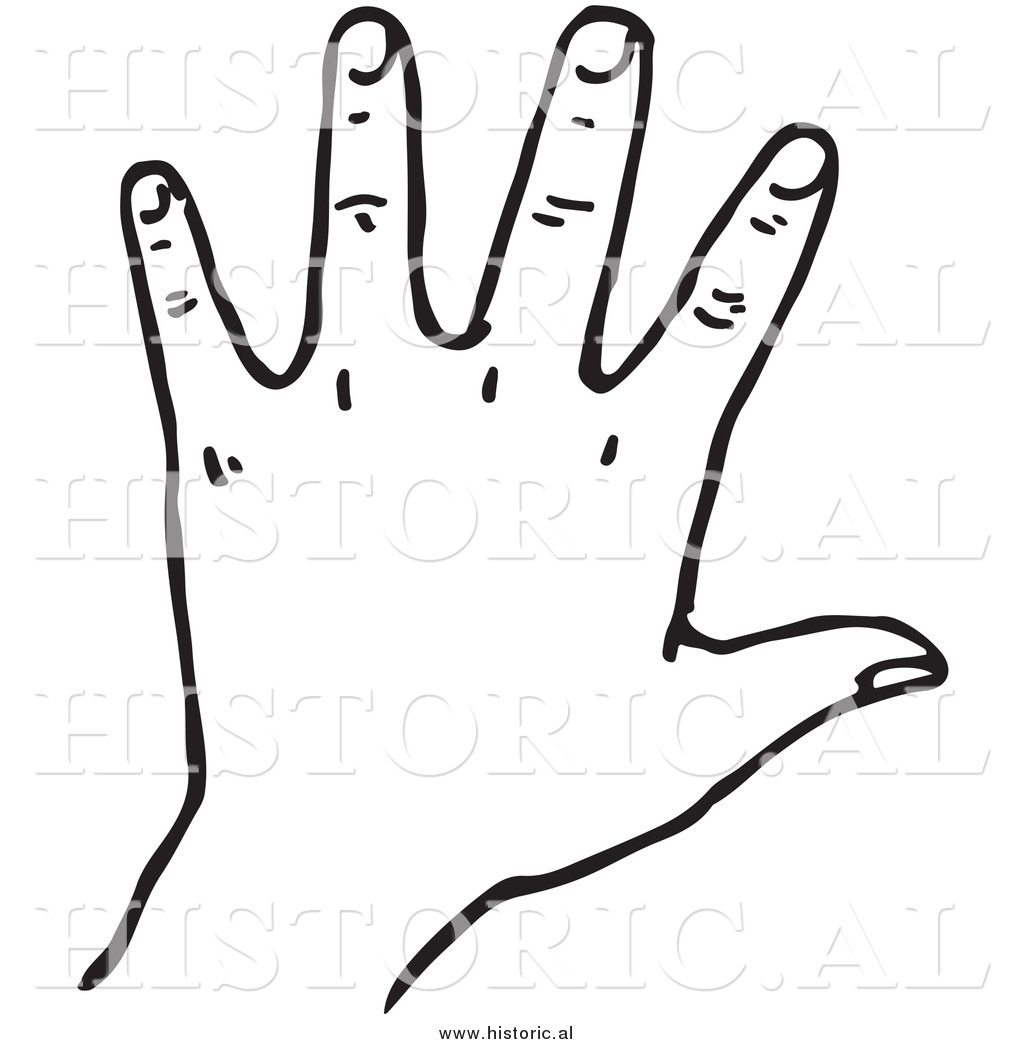 hand clipart black and white clipartsco