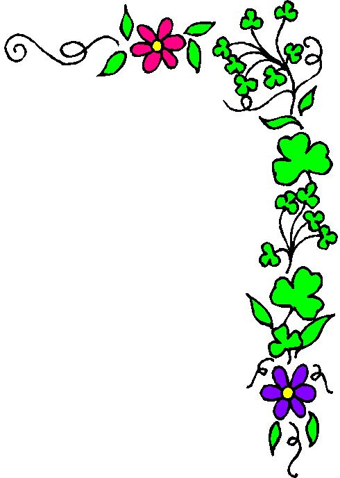 Clip Art Free Flowers Borders