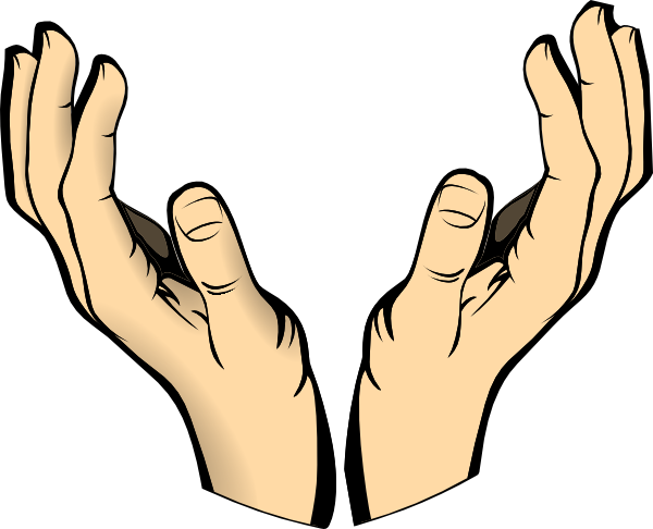 Open Praying Hands Drawing | Clipart Panda - Free Clipart Images
