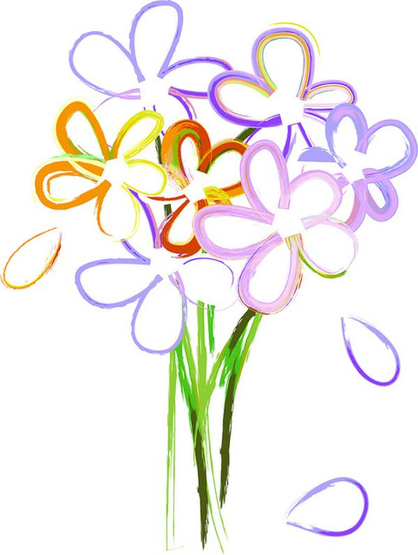 free spring flower bouquet clipart - photo #9