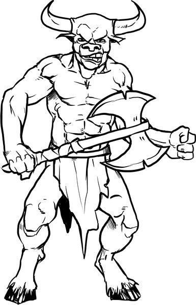 evil monsters coloring pages - photo#14
