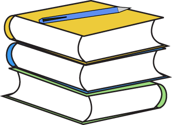 Stack of Books and Pencil Clip Art - Stack of Books and Pencil Image