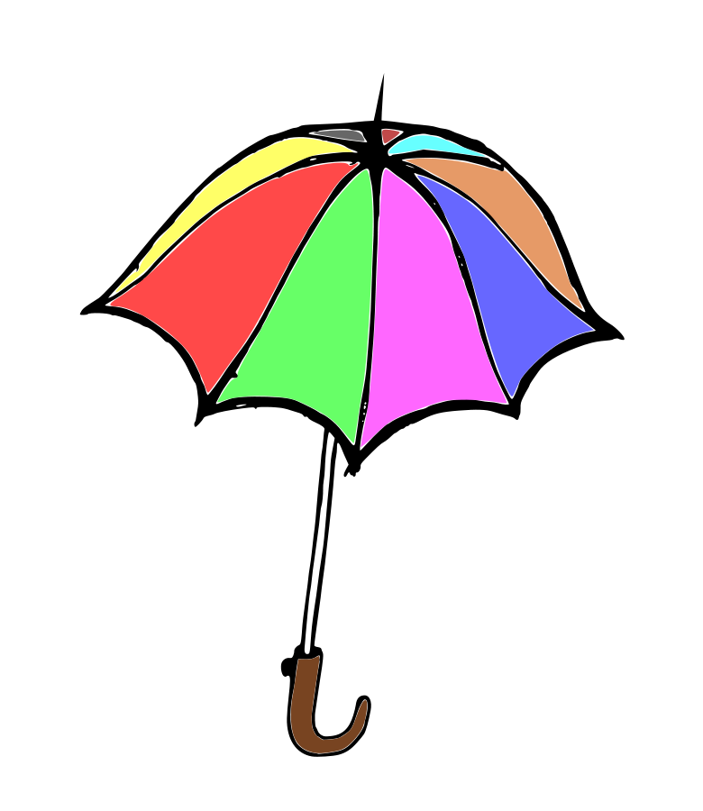 Umbrella small clipart 300pixel size, free design