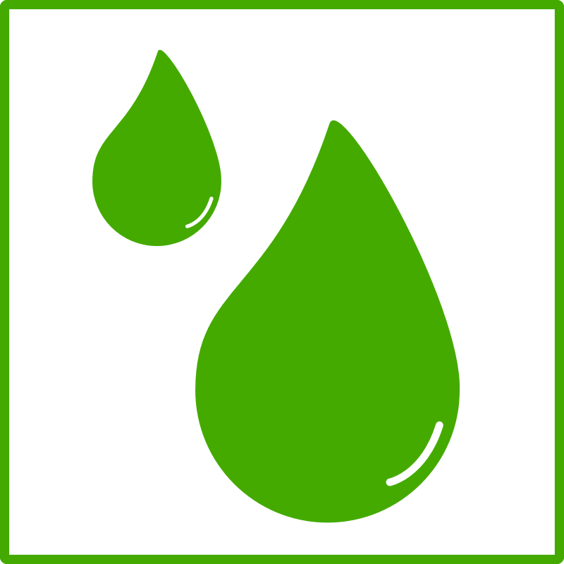 Clipart - eco green drop of water icon