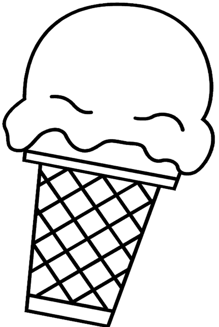 Easy coloring sweet ice cream cone easy coloring pages for Free coloring pages of ice cream