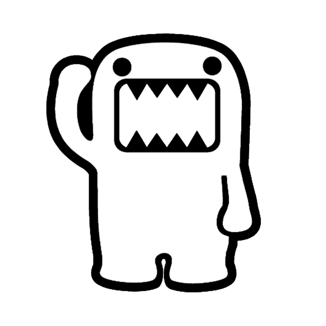 domo kun coloring pages - photo#10