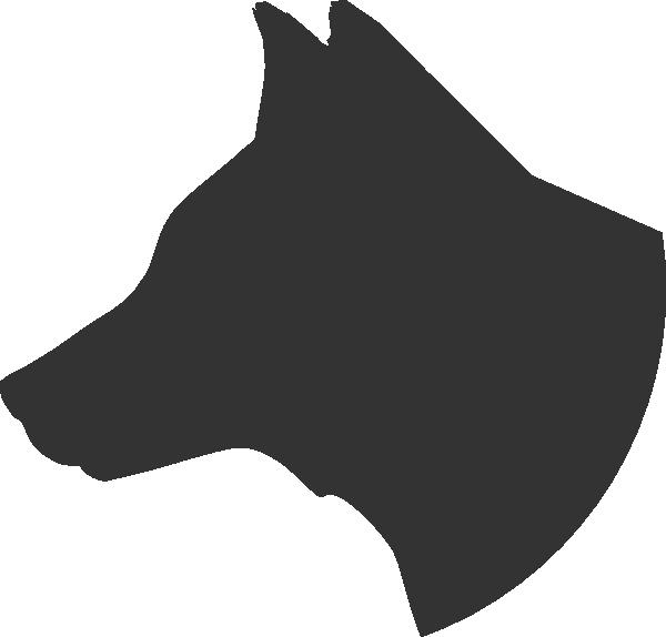 Dog Head Profile clip art - vector clip art online, royalty free ...