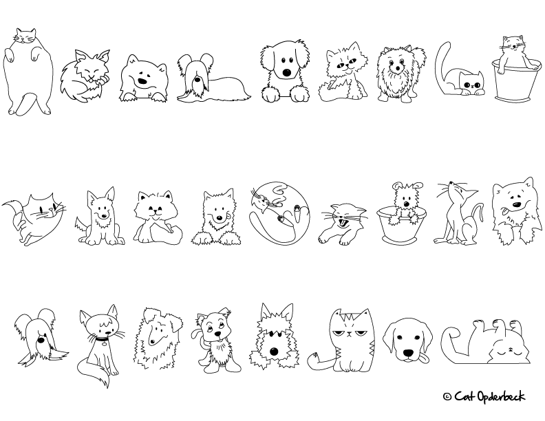 Line Art Dog Tattoo : Line drawing dogs cliparts