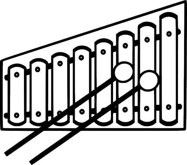 Line Drawing Of Xylophone : Xylophone clip art cliparts