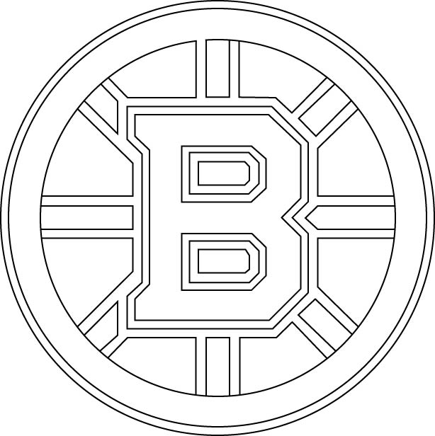 Boston Bruins Symbol Coloring Pages