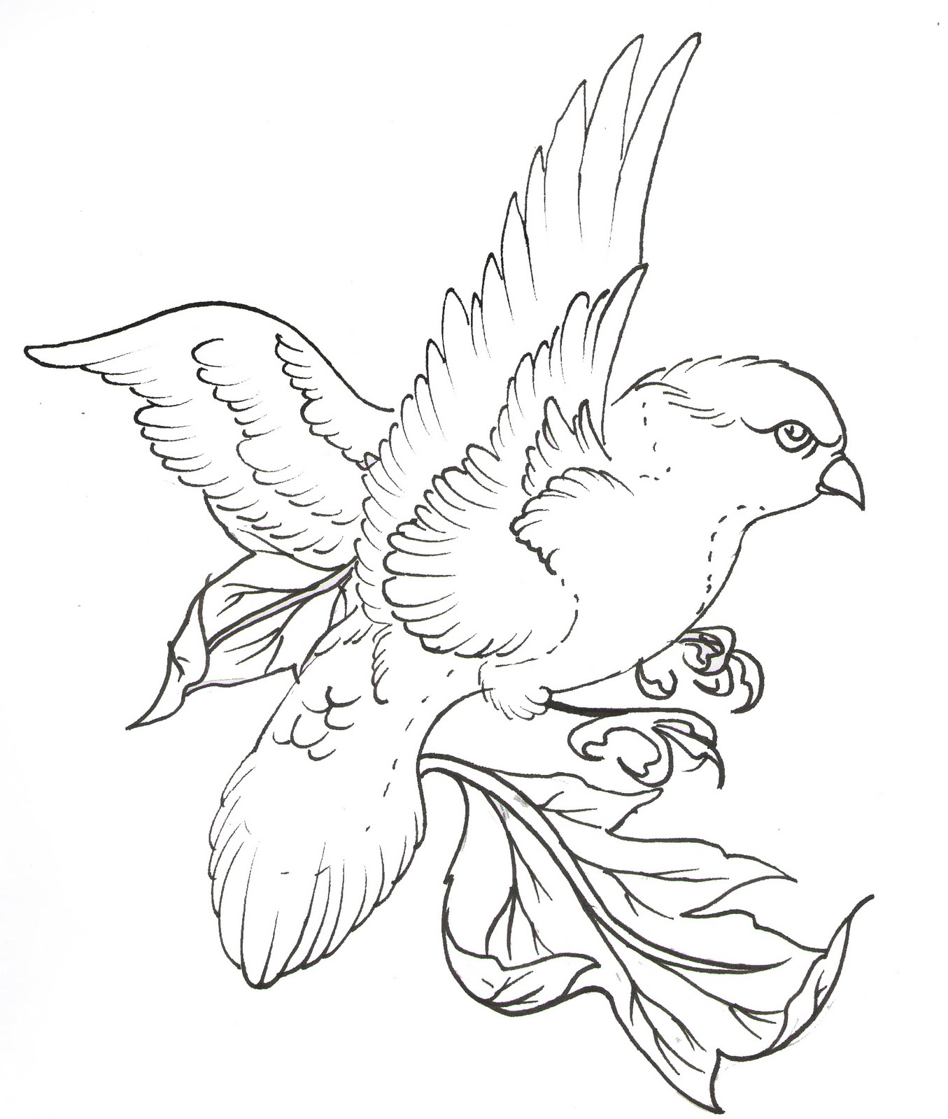 Line Art Quail : Line drawing tattoos cliparts